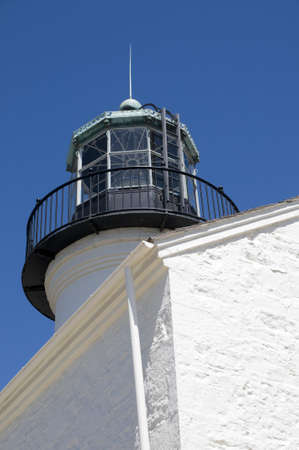 Historic Lighthouse in Point Loma Imagens