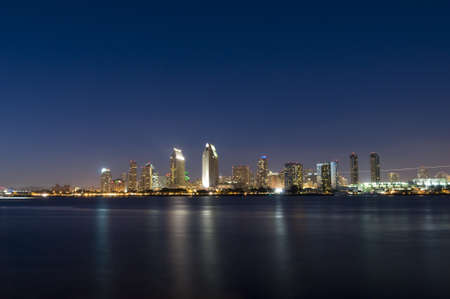 Skyline of San Diego at Night Stock Photo - 8116365