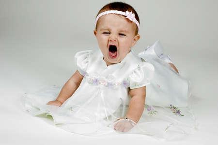 Baby Yawing Stock Photo