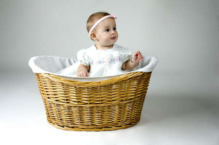 baskets: Baby Girl in Basket