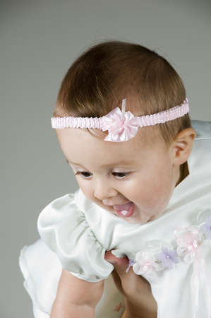 Raising Baby Stock Photo