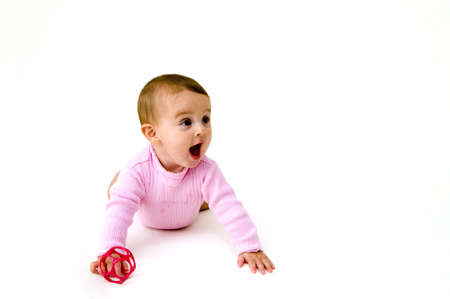 Cute Baby Isolated Playing with Toy
