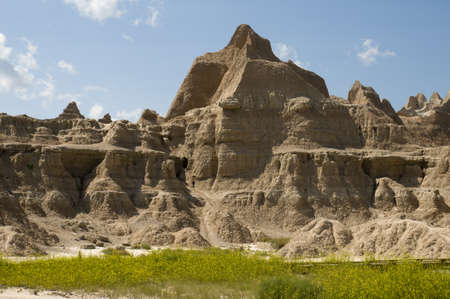 Badlands in South Dakota photo