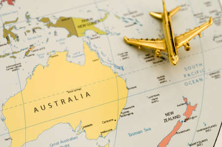 Plane Over Australia - Map is Off Government Website
