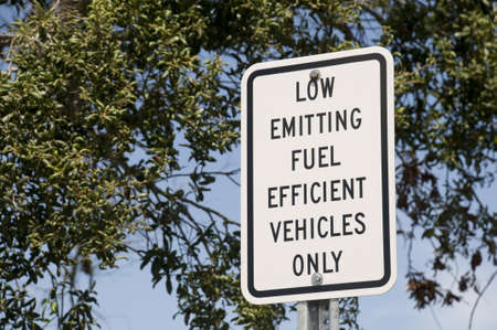 emitting: Low Emitting Fuel Sign Stock Photo