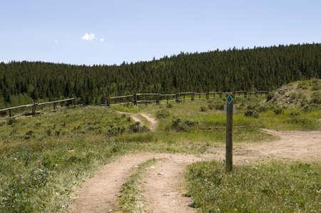 ATV Trail in Wyoming Stock fotó