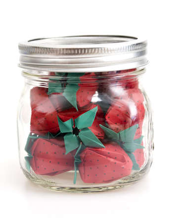 Origami Strawberries 版權商用圖片