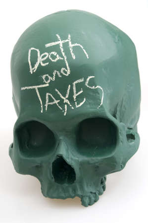 Death and Taxes on Skull