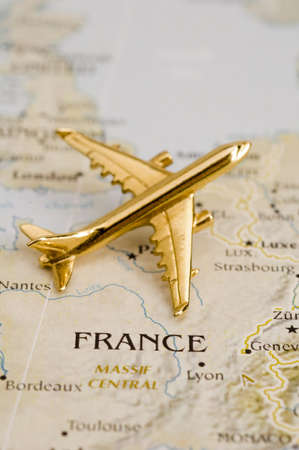 gold metal: Plane Over France