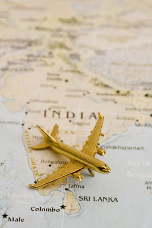 Plane Over India, Map is Copyright Free Off a Goverment Website - Nationalatlas.gov