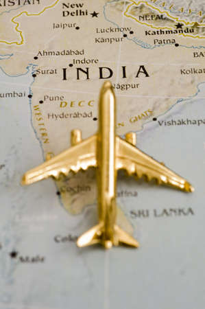 Plane Over India, Map is Copyright Free Off a Goverment Website - Nationalatlas.gov photo