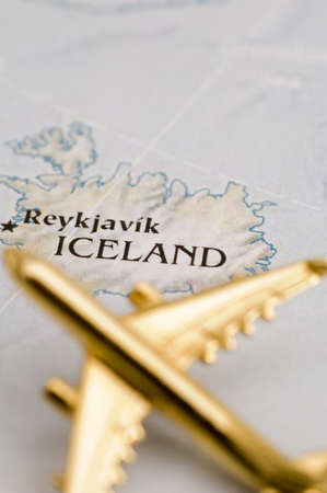 Plane Over Iceland - Map is Copyright Free Off a Government Website - nationalatlas.gov