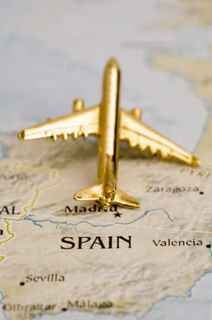 Plane Over Spain, Map is Copyright Free Off a Government Website