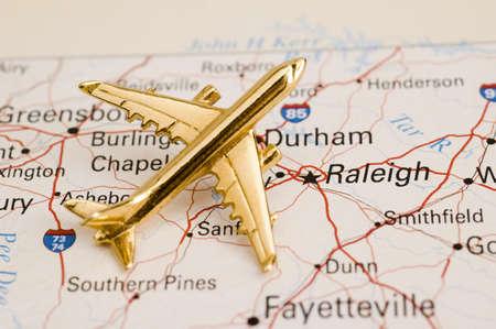 Plane Over North Carolina - Map is Copyright Free Off a Government Website - Nationalatlas.gov