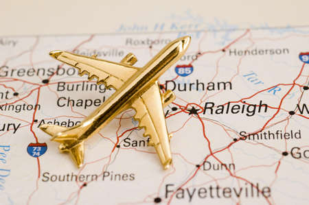 Plane Over North Carolina - Map is Copyright Free Off a Government Website - Nationalatlas.gov