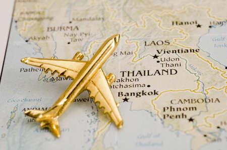 Vliegtuig Over Thailand - kaart is Copyright gratis uit een overheid Website - Nationalatlas.gov