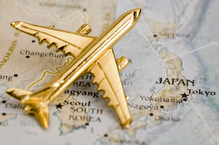 Plane Over Japan, Map is Copyright Free Off a Government Website - Nationalatlas.gov