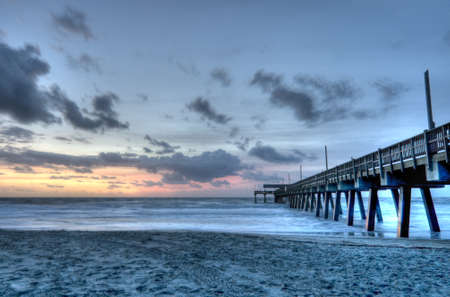 Sunrise at Tybee Island Stock Photo