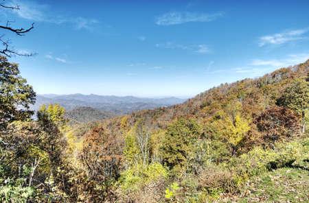 HDR of Fall in North Carolina Stock Photo