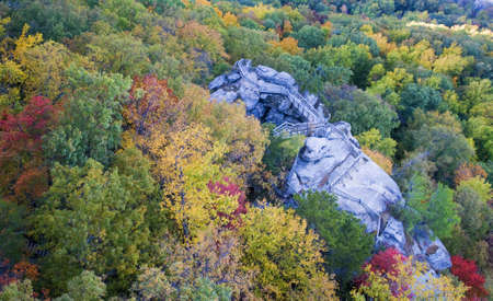 Chimney Rock in the Fall photo