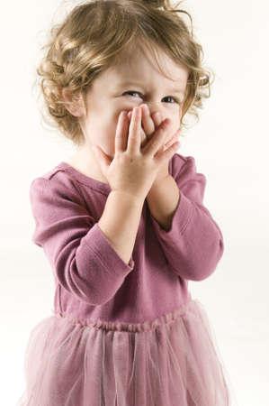 Shy Baby Girl Stock Photo