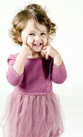 여자 아기 포즈 스톡 콘텐츠