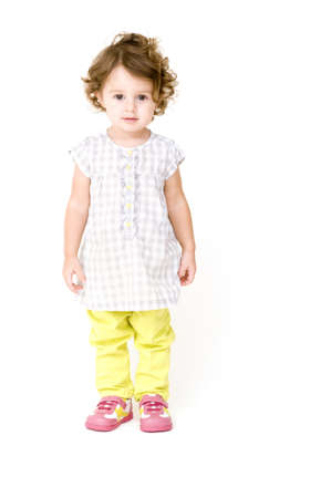 Baby Girl Geïsoleerde Stockfoto