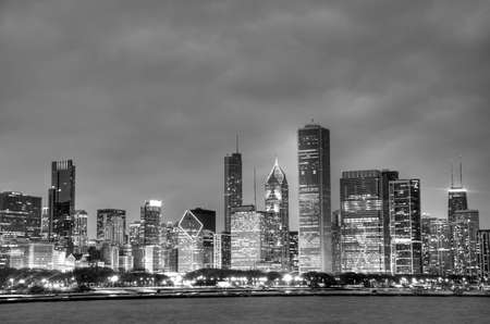 black and white skyline Stock Photo