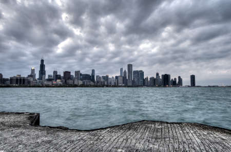 Chicago before the Storm Stock Photo