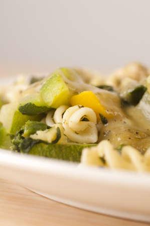 rotini: Rotini Pasta with Vegetables Stock Photo