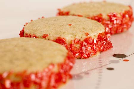 Three Pomegranate White Tea Cookies 版權商用圖片