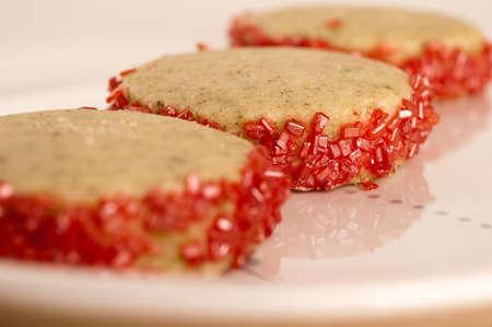 wei�er tee: Drei Granatapfel Wei�er Tee Kekse Lizenzfreie Bilder