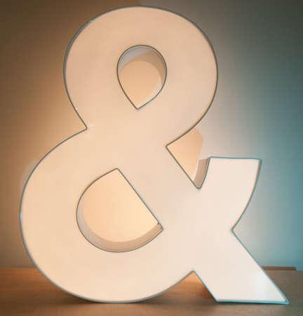 Ampersand Light Stock Photo - 13181604