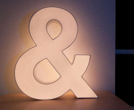Ampersand Light Stock Photo - 13181609