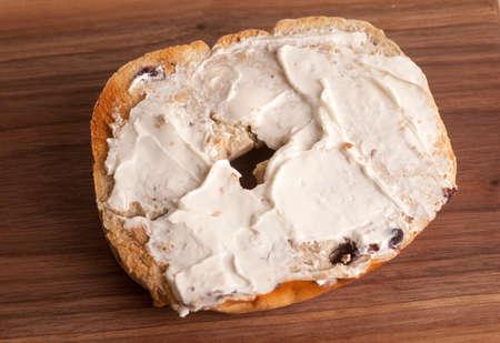 mahogany: Bagel on Mahogany Board