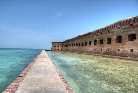 dry tortugas: Fort Jefferson at Dry Tortugas Stock Photo