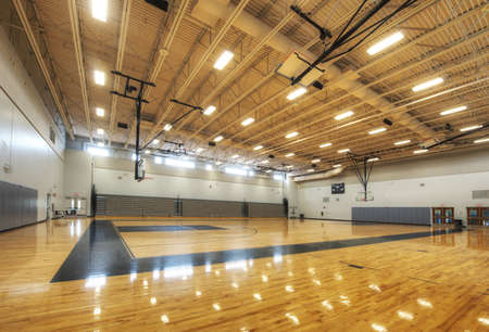 basketbalhal Stockfoto