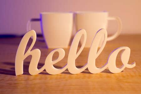 Hello with Plastic Mugs