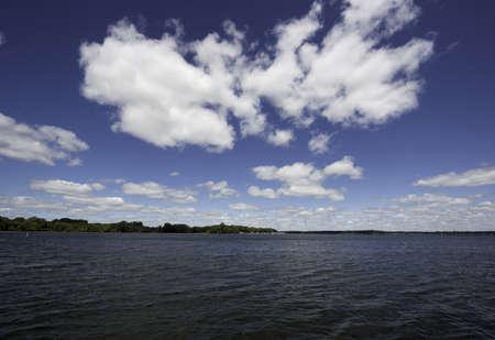 iowa: Lake Okboji in Iowa Stock Photo