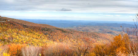 Panorama of Blue Ridge Mountains Stock Photo