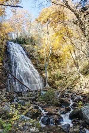autmn: Waterfall in the Blue Ridge Mountains