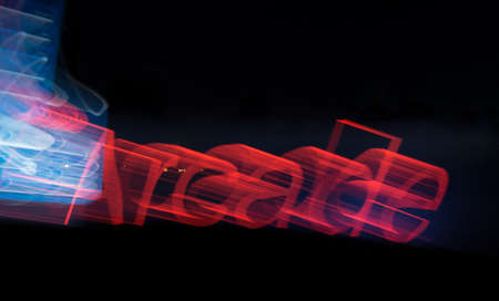 Arcade Light Painting Abstract Stock Photo - 17081014