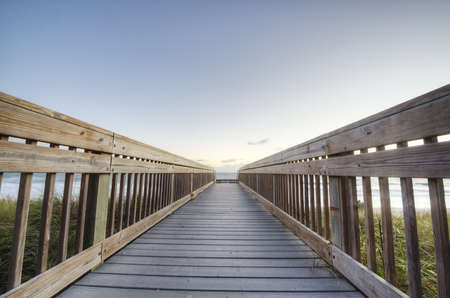 Boardwalk in Sebastian, Florida photo