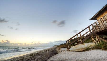 Beach in Sebastian, Florida Stock Photo