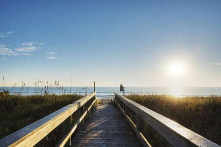 cocoa beach: Sunrise in Cocoa Beach Stock Photo