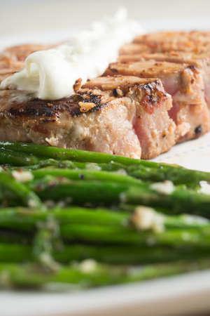 Tuna with Asparagus Stock Photo - 18089279