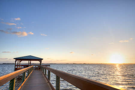 Indian River in Florida at Sunrise Stock Photo