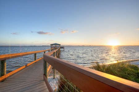 Indian River in Florida at Sunrise Stock Photo - 18445439