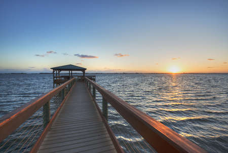 Indian River in Florida at Sunrise photo