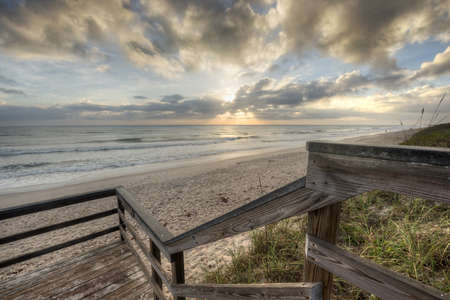 HDR of Sunrise in Canaveral National Seashore Stock Photo - 18656247